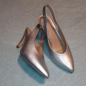 Shoes - Sliver Slingbacks